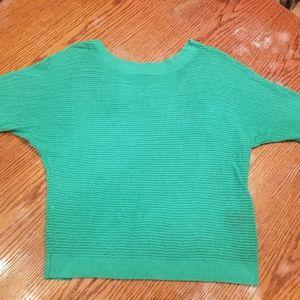 Green knit like sweater